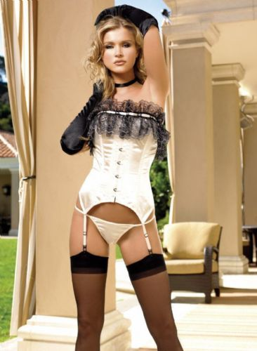 Corset and G-String (Leg Avenue 8423)